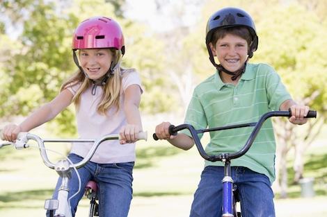Fahrradfahrprüfung für Kinder